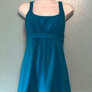Susana Monaco Flare Fitted Tank Top Teal